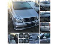 Mercedes Vito mini bus Van Silver 2007 2.2 Diesel Auto (Bonnet) All parts Available