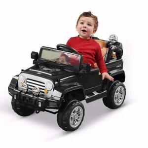 12 Volt Kids Electric Ride On Toy Truck Jeep Car W/Remote Control 2 Speeds Lights