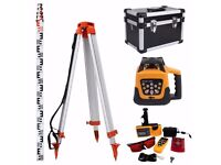 Automatic Self Levelling Rotating Red Laser Level Rotary Laser With Tripod Staff BRAND NEW BOXED