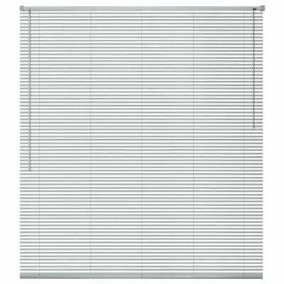vidaXL Persiana de Aluminio PVC 100x220cm Plateada Veneciana Cortinas Accesorios