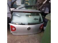 Volkswagen Golf Mark 5 2005 boot lid tailgate silver