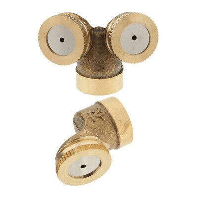 2pcs 12 Brass Misting Spray Nozzle 1 Hole 2 Hole Sprinklers Irrigation