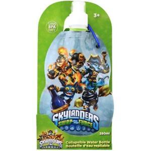 Skylanders Swap Force Collapsible Water Bottle 380ml Sans BPA Free