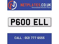 'P600 ELL' Personalised Number Plate Audi BMW Ford Golf Mercedes VW Kia Vauxhall Caravan van 4x4