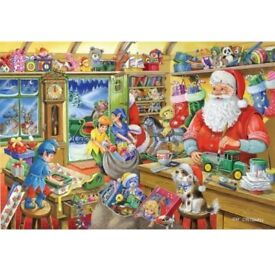 Brand NEW Sealed, 1000 Piece House of Puzzles Jigsaw Santa's Workshop Collectors edition number 5