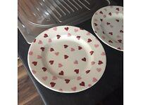 Emma Bridgewater Punk Hearts 10 1/2 Plate x3