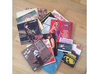 Selection of vinyl records from the 80's
