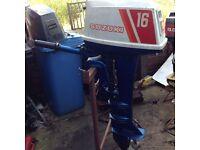 SUZUKI DT16HP OUTBOARD ENGINE