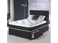 CHEAPEST PRICE OFFERED!! New Double Or King Size Divan Base With Memory Foam Mattress -AMAZING SALE-