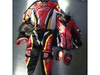 Max Equipe youth motocross clothing set