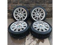 BMW 3 Series M Sport E90 E92 17'' inch Alloy Wheels - 5 x 120 - 215/45 - Perfect Tyres - £130 ono