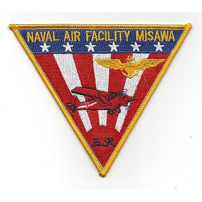 US Naval Air Facility NAF MISAWA Military Patch - US Navy Patch USN