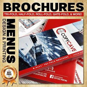 BROCHURE PRINTING | Canada's BEST rates + $20 OFF COUPON | We also offer low cost flat rate design services