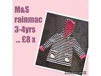 M&S hello kitty rain mac 3-4 years ❤️