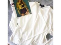 Women's White Blazer Size14