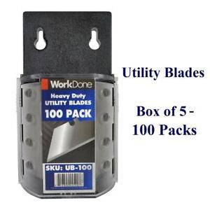 Utility Blades 5 x 100 Packs - Bulk Discounts