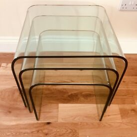nest of glass tables