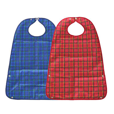 MagiDeal 2pcs Adult Mealtime Kleidung Protector Behinderung Hilfe Schürze Adult Baby Kleidung