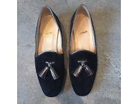 Christian louboutins flat tassel shoes loafers heels uk2 eur35