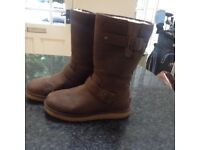 UGG boots with buckle detail in dark chestnut Size 37 / 4.5