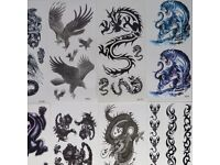 Boys Girls Gold Silver Temporary Body Tattoo Methallic Henna Jewellery Sticker Bohemian Bulk JobLot