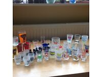 Large selection of shot glasses