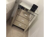 Mirrored side tables (2 available)