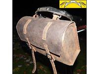New XL Vintage Genuine Leather Saddle Bag BROWN for bikes or BROMPTON/DAHON/TERN FREE SHIPPING
