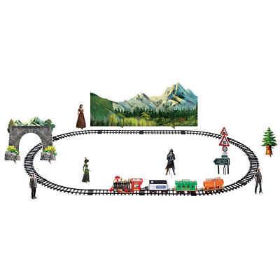 Kids Remote Control Motorized Train Set with Real Smoke - Christmas Train