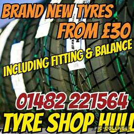 Brand new tyres from £35 . Fitted and balanced included