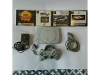 Sony PS1 slimline white ,games,Sony control gc!!