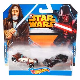 Hot Wheels Star Wars Character Cars Darth Vader & Obi-Wan Kenobi PLUS EXTRA!!!