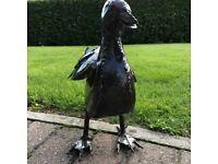 Metal Bird Sculpture - Duck