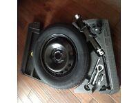 Genuine Nissan Qashqai J11-2014 spare wheel space saver, foams,tool kit &tyre