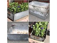 Heavy Duty Industrial Metal Tins / Planters