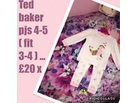 Ted baker girls pjs 4-5 ... fit 3-4 ❤️