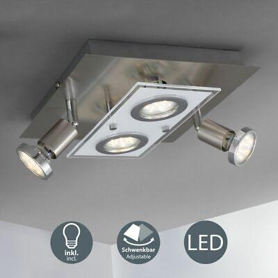Lámpara De Techo LED Luz Dormitorio Foco 4-flammig Salón Cocina