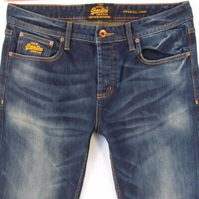 Mens SuperDry COPPERFILL LOOSE Relaxed Blue Jeans W34 L36