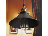 Retro Industrial Iron Vintage Fixture Ceiling Lamp Pendant Light Decor Room Bar