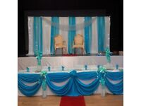 OFFER!! DECORATION SERVICES CHAIR COVER HIRE 60p BALLOONS CATERING EQUIPMENT CAKES
