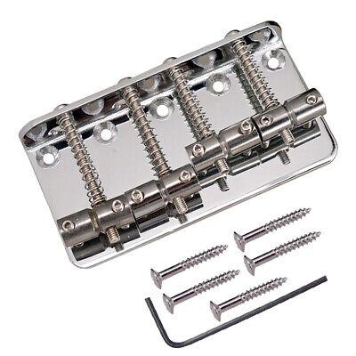 1 juego de aleación de zinc, 4 cuerdas, bajo eléctrico, puente de...
