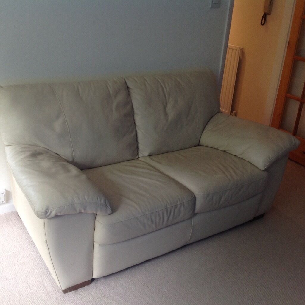 Ikea Vreta Two Seater Sofa Ivory Leather In Chingford London Gumtree