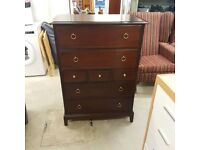 STAG CHEST OF 7 DRAWERS SOLID MAHOGANY WOOD
