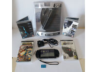 SONY PSP 3003 SLIM PIANO BLACK FULL SETUP MOBILE CHARGER A1!!