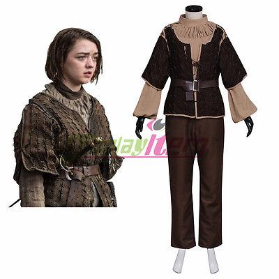 Game of Thrones Arya Stark Cosplay Costume Adult Women's costume (Arya Game Of Thrones Costume)