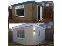 kitchens bathrooms flooring roofs garages windows joiner roofer builder summer house
