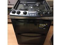 Zanussi 60cm Black gas cooker (Dual fuel)