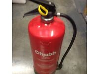 Chubb water fire extinguisher 9Ltr X 2