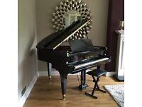 REAL BLACK GLOSS BABY GRAND PIANO DIGITAL CONVERSION.