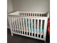Jullian Bowen cot and mattress
